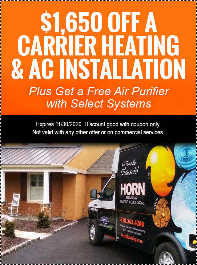 $1,650 Off Installation O A Carrier Heating & AC System