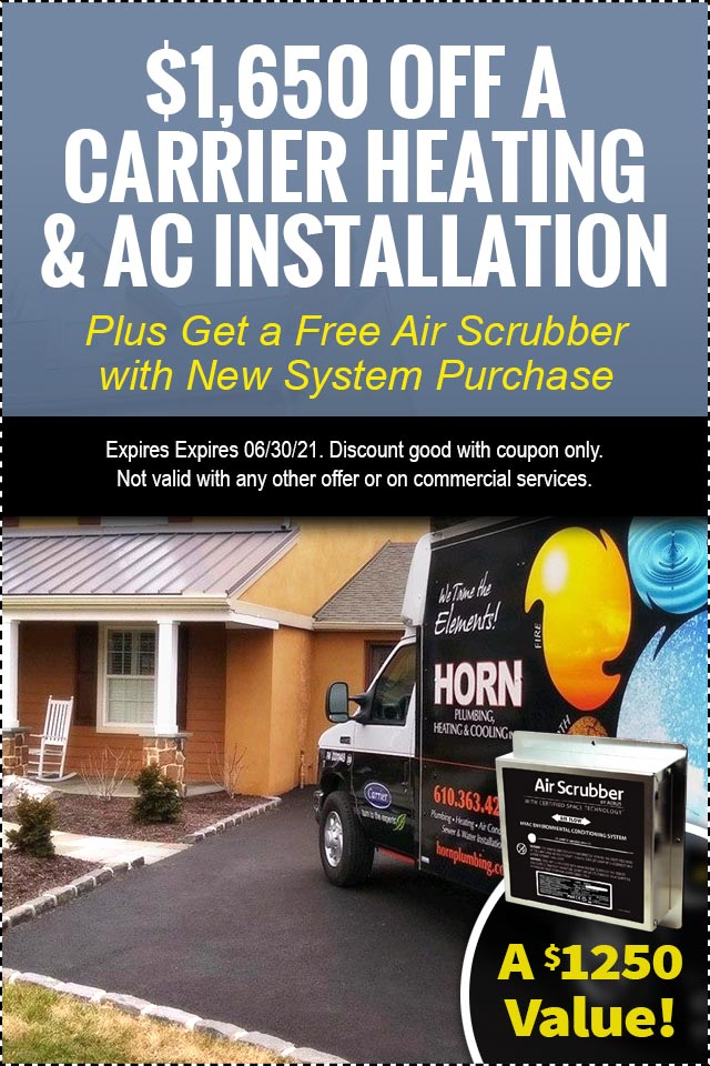 $1,650 Off A Carrier Heating & AC Installation